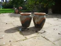 Glazed Terracotta pots.
