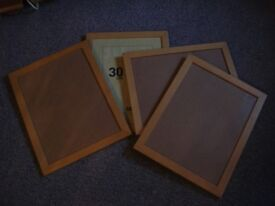 4 set of 30cm by 40cm picture frames