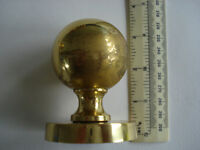 5 pairs of Round Brass Door Knobs