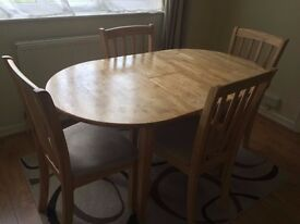 Extendable Dining Set with 4 Chairs