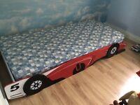 Children's racing car bed
