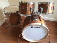 Wokingham Drum Sales (Premier Specialists) Vintage Premier Club Drum Kit - Walnut - Mahogany Shells