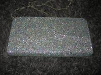 DUNE Multi-Glitter Shoes (size 5/38) & Bag