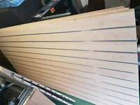 Beech Coloured Slat Walling With Inserts