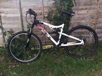Apollo Paradox Mountain Bike, Black/White/Red Bike, Unisex Cycle, Men's/Boy's/Women's/Girl's Cycle.