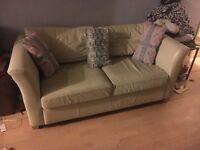 Ivory leather sofa- cheap!!!