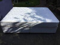 King size divan bed, mattress headboard one month old