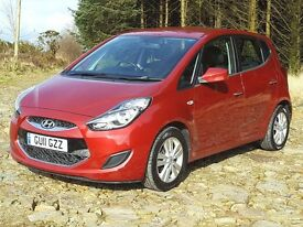 2011 Hyundai ix20 1.4CRDi Active, MPV, Low Mileage, £30 Tax, Bluetooth, Remotes, Alloys, 6-Speed,