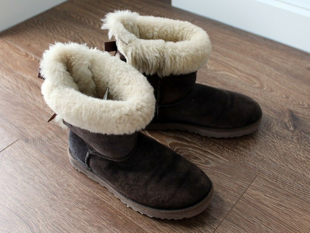 2d27863fef1 Authentic UGG Bailey Bow Boots (Size 5.5) Used RRP £185 | in Greenwich,  London | Gumtree