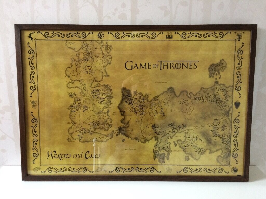NEW Framed Game of Thrones Antique Map | £12 | 91.5X61CM | in ...