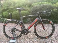 Fuji Norcom Straight Carbon Tt triathlon bike Ultegra 6800 oval wheels trek giant Specialized