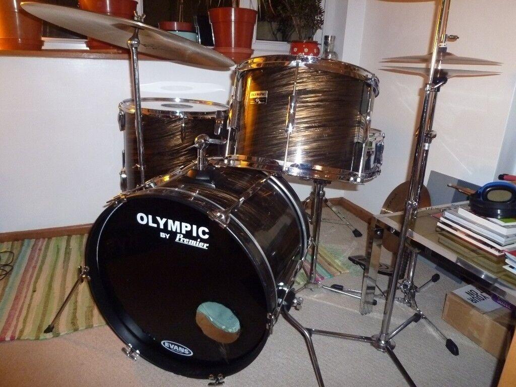 Premier Olympic vintage drum kit - Mahogany Duroplastic - 1974