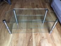 Glass Television Stand - 3 tiers