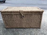 Large wicker storage box