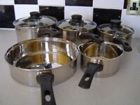 NEW ETHOSCOOK HELL'S KITCHEN STAINLESS STEEL PAN SET