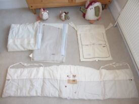 Mamas & Papas Linear Zoo Lined Curtains and Accessories for nursery