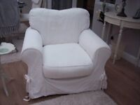 2 Arm chairs with washable covers Cash on collection RH20 4JF