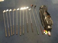 Vintage 8 Piece Jack Nicklaus Golden Bear Golf Set with Ben Sayers Bag