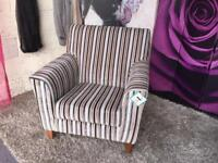 New Aspen Accent Striped Fabric Chair