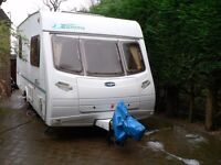 Lunar Zenith 4 berth caravan. Immaculate condition. Many extras including 2 awnings and motor mover