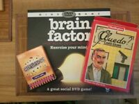 3 games Cluedo card game, Charades, Brain Factory