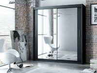 ☀️💚☀️POPULAR CHOICE☀️💚☀️ Berlin 2 Door Sliding Mirror Wardrobe -- Cheapest Price