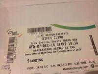1x Biffy Clyro Standing ticket, Birmingham Barclaycard Arena, 7th December