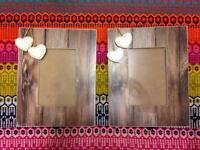 Pair of Lovely Wooden Heart Frames