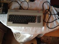 Commodore 64 with tape deck and games