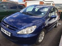 Peugeot 307 Blue, 1.4HDI Diesel, 2004, Low Mileage, £30 Road Tax a Year, Service History