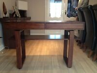 Walnut Hall Console Table