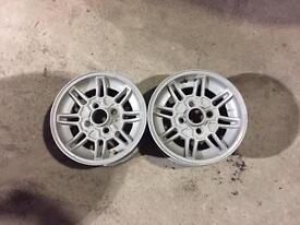 """2x ford Capri escort alloy wheels 13"""""""