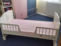 White toddler bed for sale SOLD