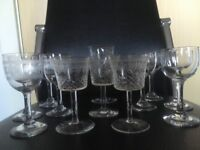 Collection of 20th Century stemmed glasses