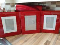 Red Wall Hanging Photo Frames