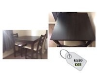 LERHMAN Table and 2 chairs