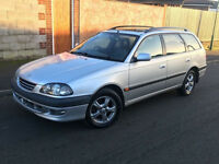 1999*TOYOTA AVENSIS 2.0 PETROL ESTATE CDX*2 OWNERS*7 MONTHS MOT*FULL LEATHER INTERIOR*AIR CON