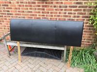 King size black headboard