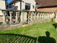 Natural weathered stone balustrade coping