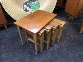 Poul Hundevad Style Nest of Tables. Retro Vintage Mid Century Danish