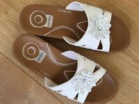 White ladies Sandals size 7