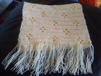 New crochet scarf/shawl ladies in cream