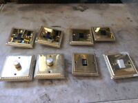 Brass light switches dimmers and sockets