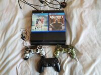 500gb 3 official controllers 2 games original headset
