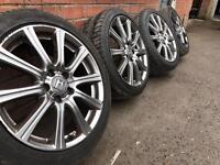 18 INCH ALLOY WHEELS WITH TYRES HONDA MAZDA TOYOTA JAP CARS