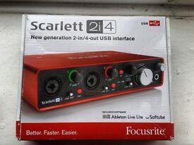 Focusrite Scarlett 2i4 (2nd Gen) -MINT CONDITIONS-