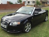Audi A4 Convertible 2007 S line 2.0L Semi Auto 94K MOT 06/2017 Metalic Black Full Black Leather