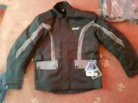 Motorbike jacket. Oxford heavy duty chain and padlock and disc lock with alarm