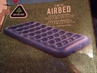Airbed/Blow up mattress - TWIN