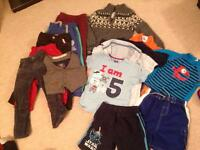 Boys age 4-5 years clothes bundle 2; 15 items